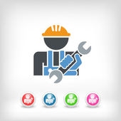 Worker icon — Stock Vector