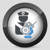 Policeman radio — Stock Vector
