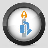 Candle icon — Stock Vector