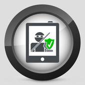 Segurança de Tablet — Vetor de Stock