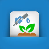 Watering plant — Stock Vector