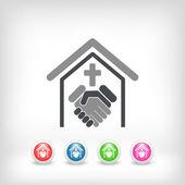 Religious relationship — Stock Vector