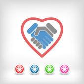 Love handshake — Vector de stock