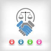 Legal agreement — Stock Vector