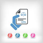 Legal document — Stock Vector