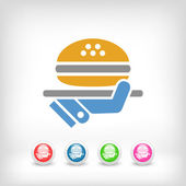 Fast food icon — Stock Vector