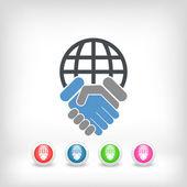 Global agreement — Stock Vector