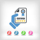 Certified document icon — Stock Vector
