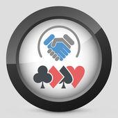 Poker challenge — Stock Vector