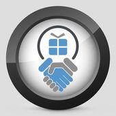 Handshake for gift — Stock Vector