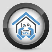 Certified building icon — Vetorial Stock