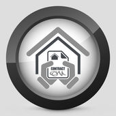 House contract icon — Stock Vector