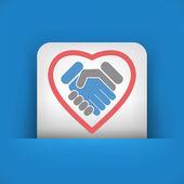 Love handshake — Stok Vektör