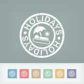Holidays summer stamp grunge — Vector de stock