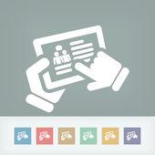 Sohbet dokunmatik ekran simgesi — Stok Vektör