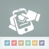 Smartphone download icon — Stock Vector