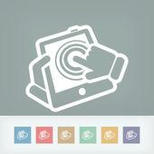 Touchscreen action icon — Stock Vector