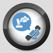 Legal assistance icon — Stock Vector