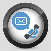Answering machine icon — Stock Vector