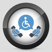 Handicap assistance line — Stock Vector