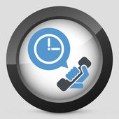Clock phone icon — Stockvector