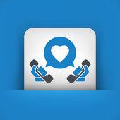 Love call icon — Stock Vector