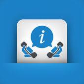 Infoline icon — Stock Vector