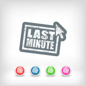 """Last minute"" web grunge cartel — Stock Vector"