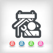 Industry concept icon — Stock Vector