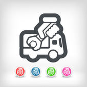 Icona furgone assistenza — Vettoriale Stock