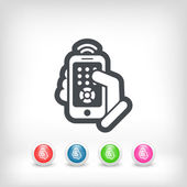 Smartphone remote control icon — Stock Vector