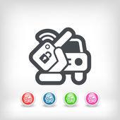 Car remote key — Stock Vector