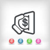 Business coin icon — Stock Vector