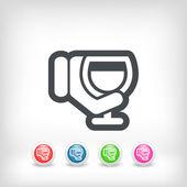 Wine glass icon — Stock Vector