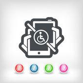Handicap tablet connection — Stock Vector