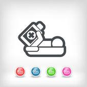 Hospital medication — Stock Vector