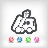 Bus travel icon — Stock Vector