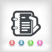 Icône de notes — Vecteur