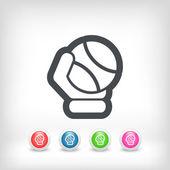 Tennis ball icon — Stock Vector