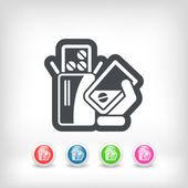 Ta p-piller — Stockvektor