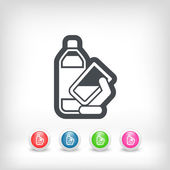 Water bottle icon — Stock Vector