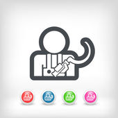 Sickle icon — Stock Vector