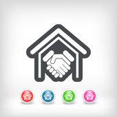 Real estate handshake — Stock Vector