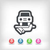 Car services icon — Stock Vector