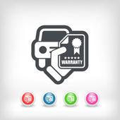 Car warranty icon — Stock Vector