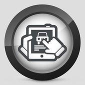Samochód w serwisie tabletki — Wektor stockowy