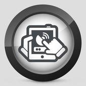 Anten bağlantısını Tablet — Stok Vektör