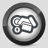 Open handle icon — Stock Vector