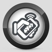 Online casino icon — Stock Vector