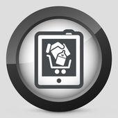 Shopping på tablet pc-ikonen — Stockvektor